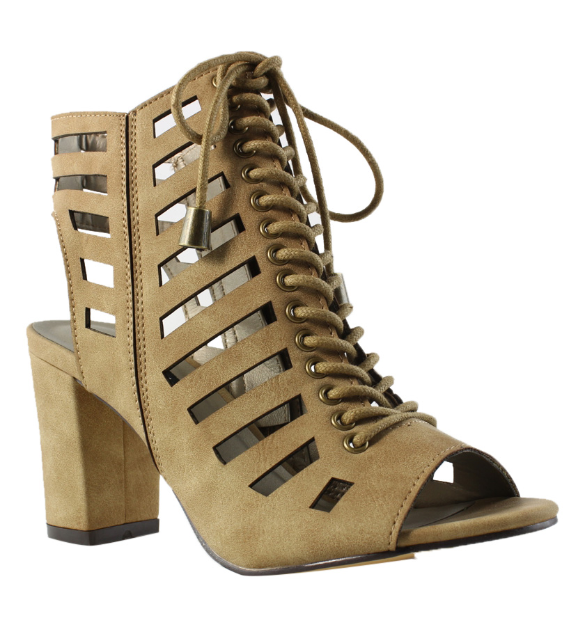 Michael Antonio Womens  Brown Gladiator Sandals Size 6 New
