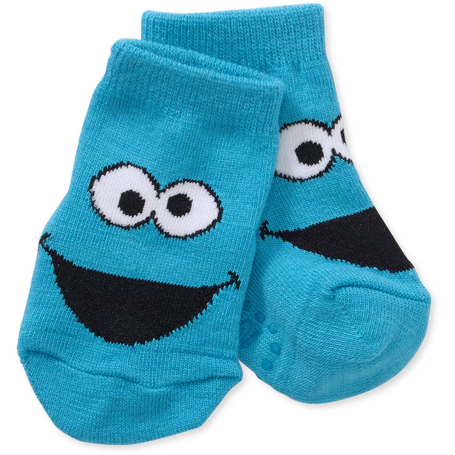 Sesame Street Elmo Newborn Baby Boy Quarter Socks, 3-Pack