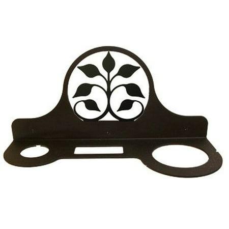 Village Wrought Iron Leaf Fan Hair Dryer Rack, 11 Width x 5 Height x 4 Depth ()