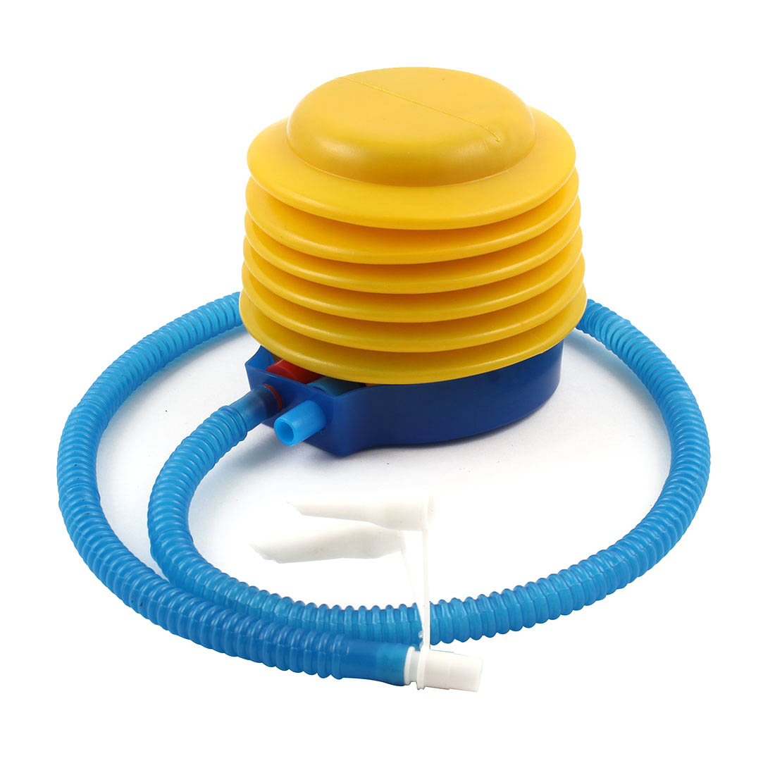 Balloon Plastic Easy Hand Foot Operated Air Bellow Pump Inflator Blue Yellow