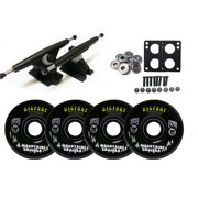 Randal 180 BLK LONGBOARD TRUCKS Package BIGFOOT Wheels BLACK MC