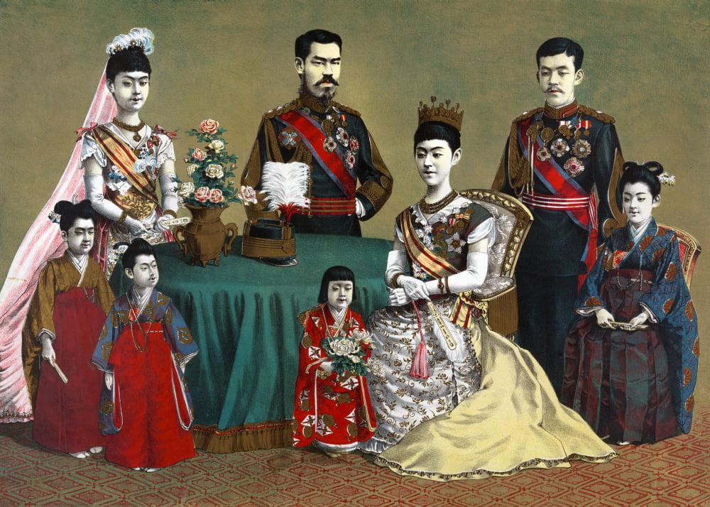 Japan Imperial FamilyNa Portrait Of The Meiji Emperor Of ...