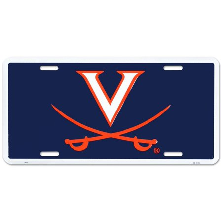 University of Virginia Cavaliers License Plate Tin Sign - 6x12