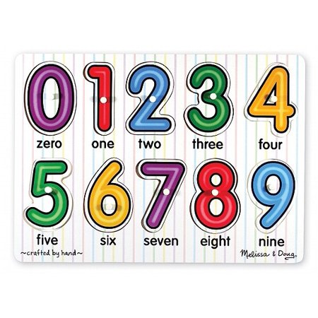 Melissa & Doug See-Inside Numbers Wooden Peg Puzzle (10 pcs) ()