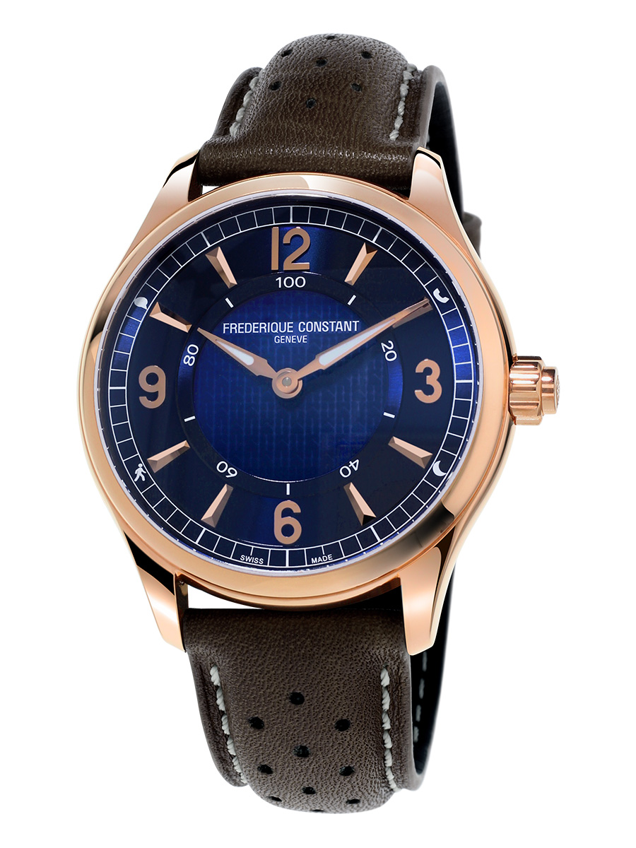 Frederique Constant HSW Navy Dial Leather Strap Men's Watch FC282AN5B4