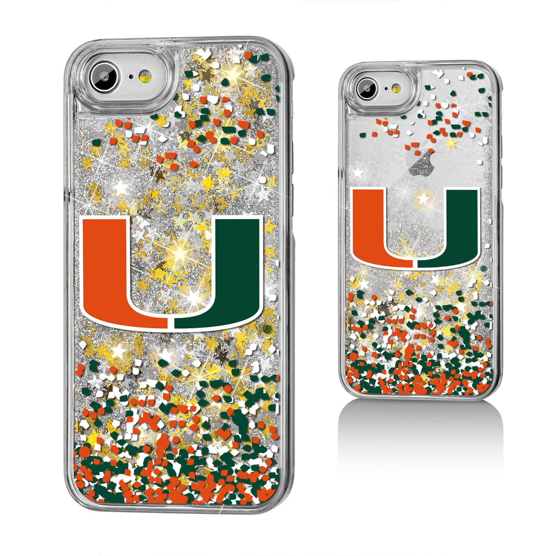 UM Miami Hurricanes Confetti Glitter Case for iPhone 8 / 7 / 6
