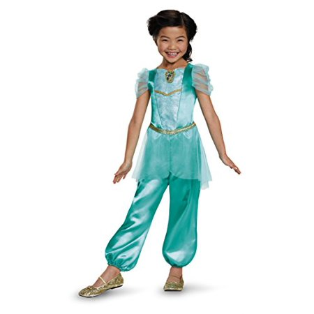 Disguise Jasmine Classic Disney Princess Aladdin Costume, One Color, Medium/7-8