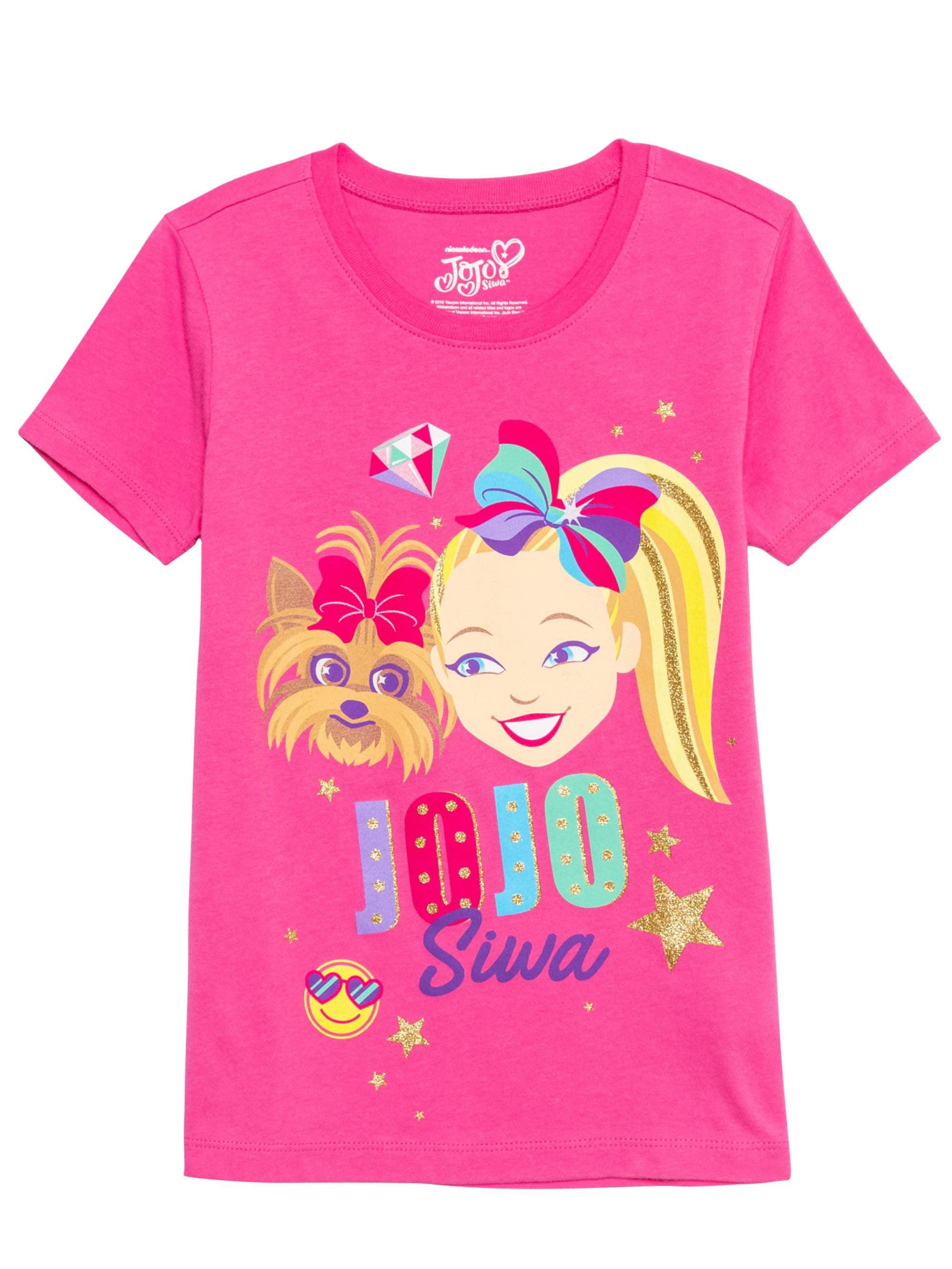 Nickelodeon Jojo Siwa Girls Turquoise Blue Short Sleeve T-shirt Free Ship Small