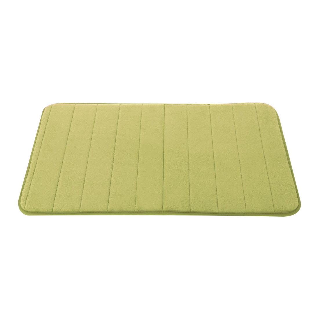 Memory Foam Bathroom Rugs Absorbent Bath Floor Mat Green