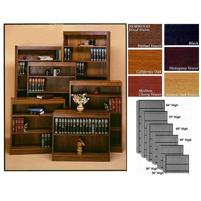 Norsons 8412-6 MH 6 Shelf Contemporary Bookcase Novacore - Mahogany