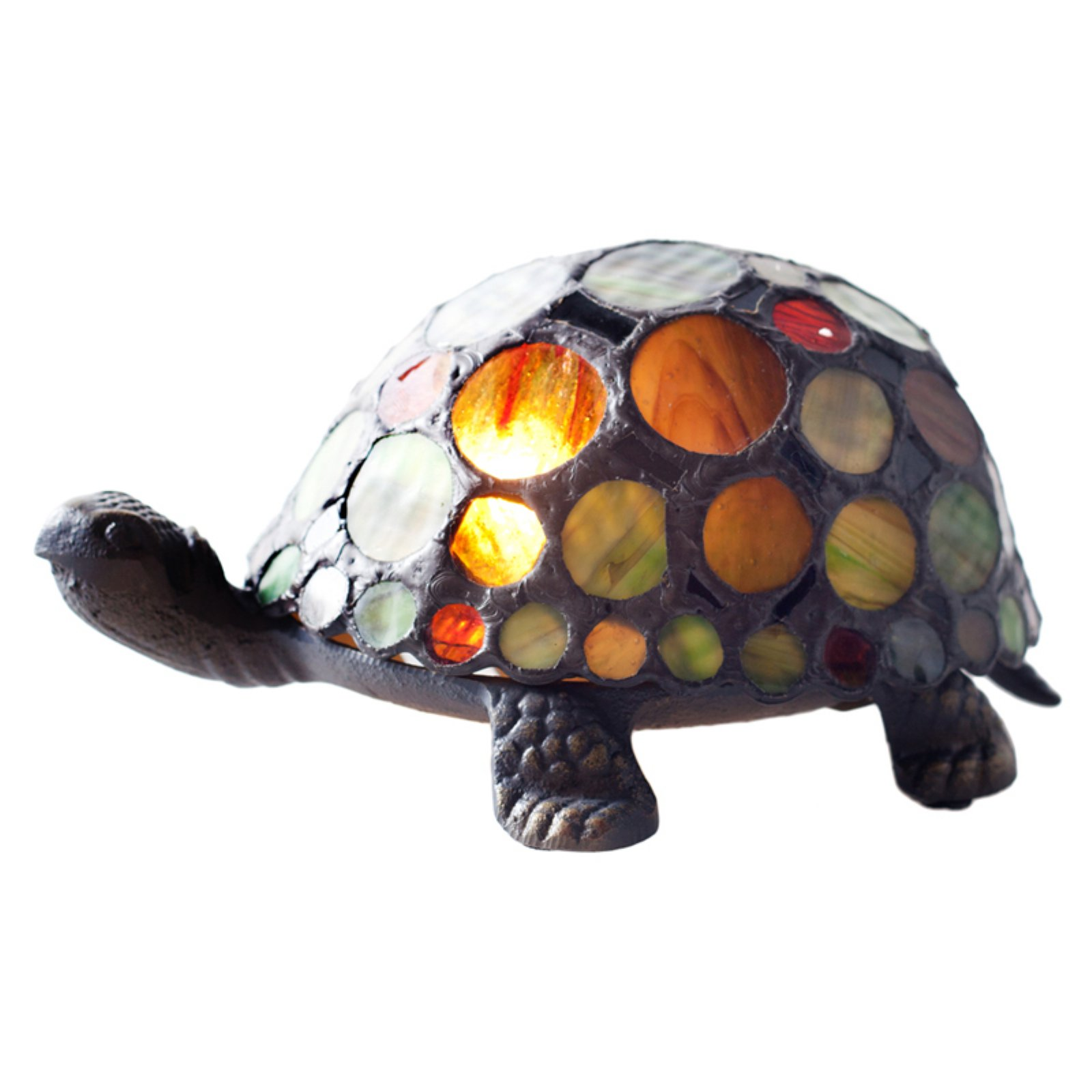 River of Goods 11305 Stained Glass Spotted Turtle Table Lamp