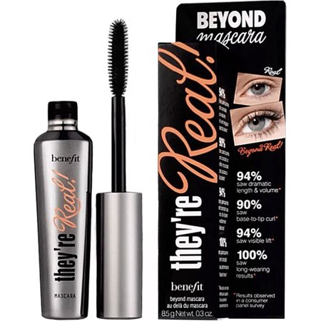 Benefit Cosmetics They're Real! Beyond Mascara, Black, (Benefit Mascara)