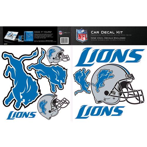 Detroit Lions Car Decal Kit