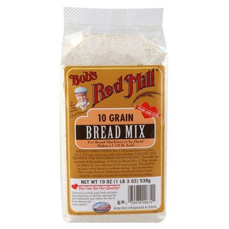 Bob's Red Mill, 10 Grain, Bread Mix, 19 oz(pack of 1) (Bobs Red Mill Buttermilk Powder)