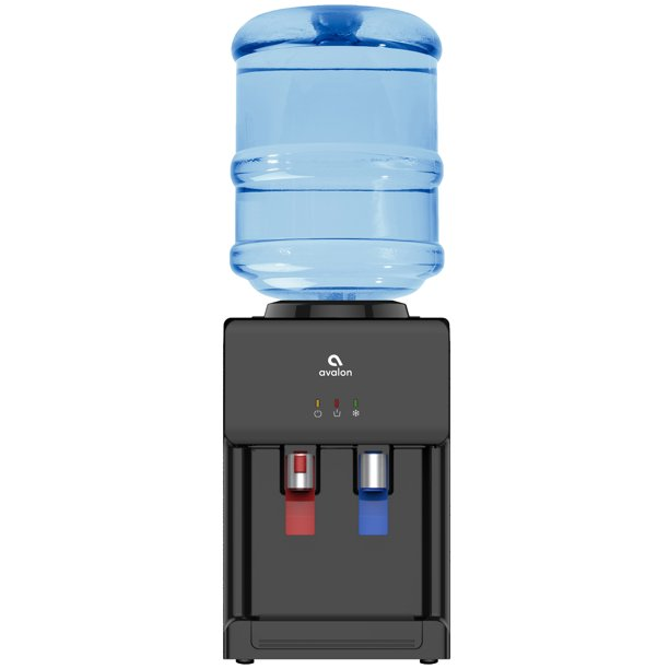 Avalon Premium Hot Cold Top Loading Countertop Water Cooler Dispenser With Child Safety Lock Ul Energy Star Approved Black Walmart Com Walmart Com