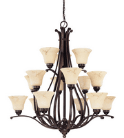 Chandeliers 15 Light With Copper Espresso Finish Metal Medium 39 inch 900 Watts