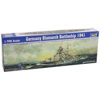 Trumpeter 1/700 German Bismarck Battleship 1941 Model Kit