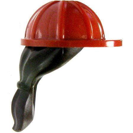 Browns Helmet (LEGO Minifigure Parts Red Hard Hat with Brown)