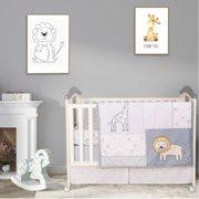 Cuddles & Cribs 100% Cotton Crib Bedding Set 4 Piece Unisex Nursery Bedding