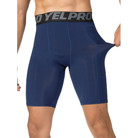 New Mens Active Shorts, Activewear Bottoms jog pants Trunks Tights Sweatpants Sportwear Fitness Sports Running Quick Dry Pocket Muscle Athletic Gym Navy Blue S