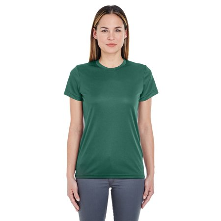 UltraClub 8620L Ladies Cool Dry Basic Performance T-Shirt - Forest Green - Medium