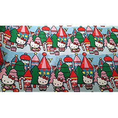 christmas wrapping hello kitty holiday paper gift greetings 1 roll design festive wrap kitty peppermint (Hello Kitty Gift Wrap)