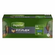 Depend FIT-FLEX Incontinence Underwear for Men with Maximum Absorbency, Size L/XL, 76 ct.