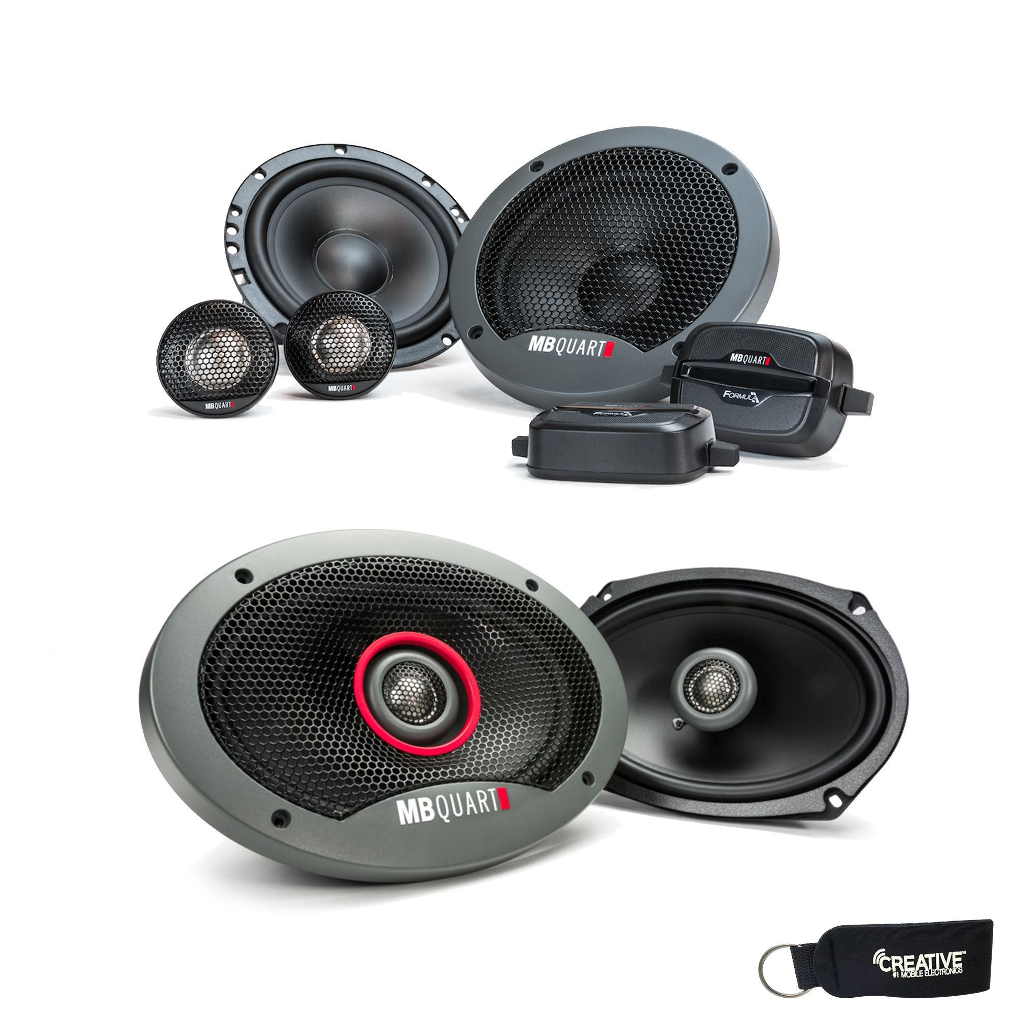 "MB Quart - Pair Of Formula FSB216 6.5"" Component Speakers And A Pair Of Formula 6x9"" Speakers FKB169"