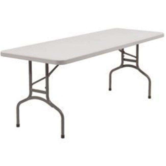 National Public Seating BT3096 Rectangular Blow Mold Folding Table