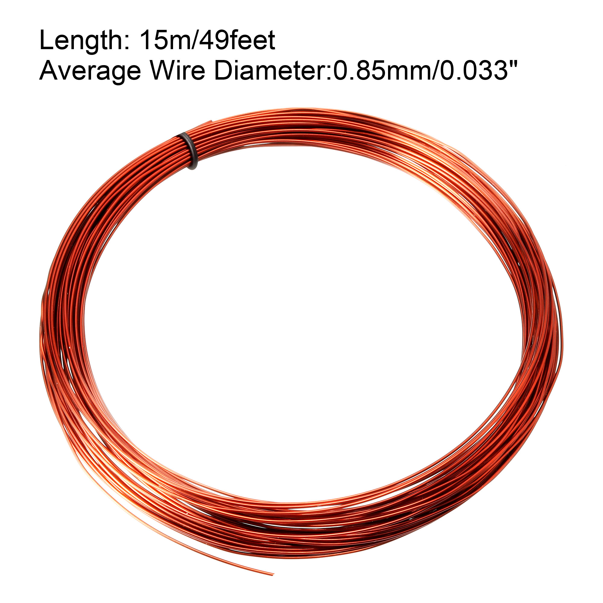 0.85mm Dia Magnet Wire Enameled Copper Wire Winding Coil 49' Length Widely Used for Transformers Inductors - image 2 de 3