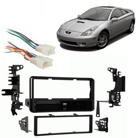 Fits Toyota Celica 2000-2005 Single DIN Stereo Harness Radio Install Dash (Celica Dash)