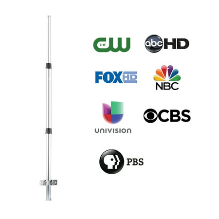 ONN ONB17CH004E Outdoor Antenna Mounting Pole with Mounting Hardware (Tv Antenna Pole)
