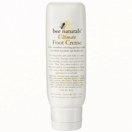 Bee Naturals, Crème Pieds Ultimate - Treats sec, pieds crevassés et sans pitié - voir et sentir des résultats immédiats