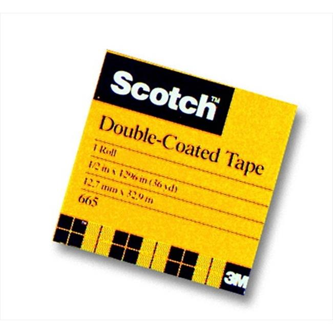 Scotch 040521 Double Sided Photo-Safe Tape, Transparent, 1 In. x 60 Yd.