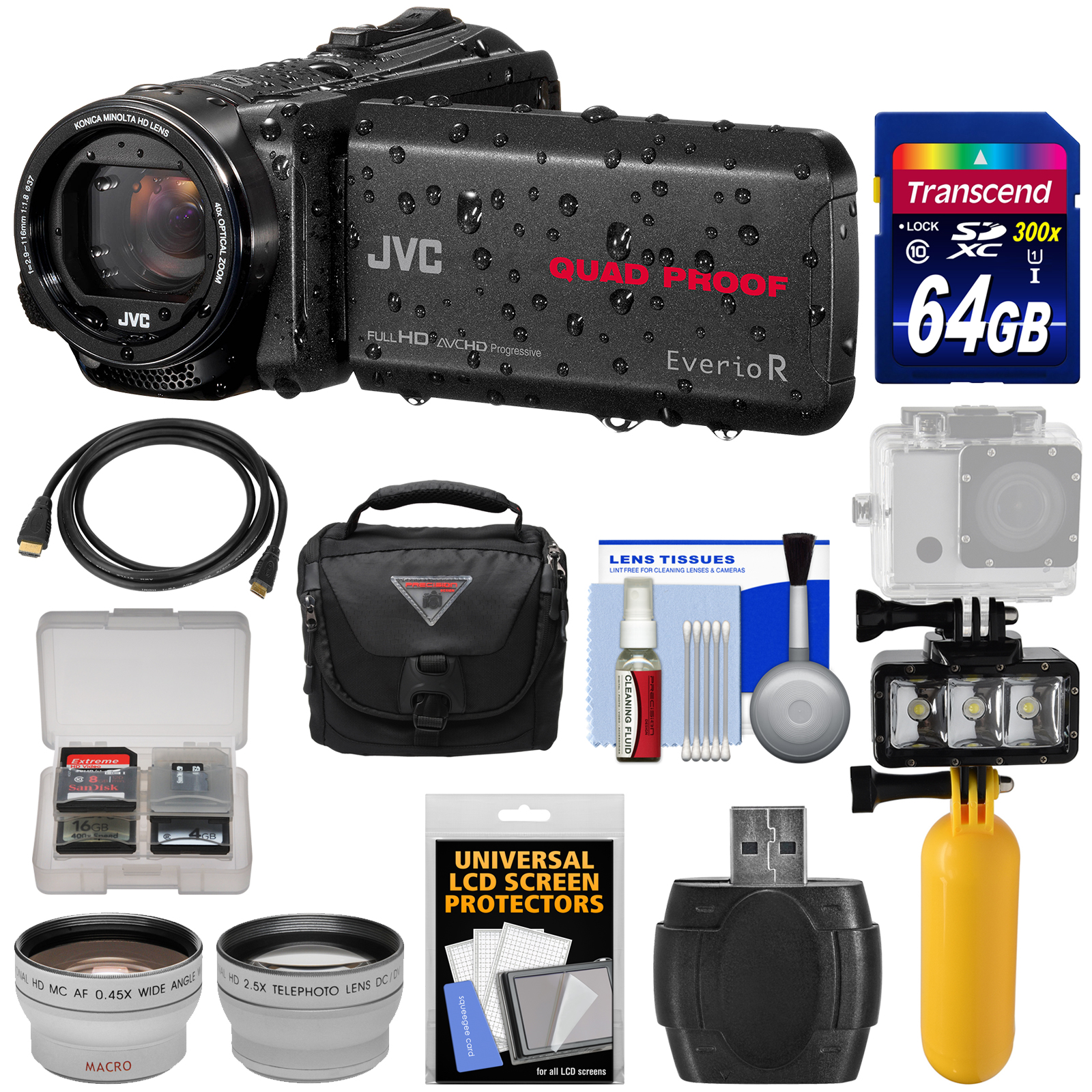 JVC Everio GZ-R550 Quad Proof Full HD 32GB Digital Video ...
