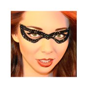 Black Bad Girl Eye Mask Jewel Xotic Eyes Professional Temporary Make Up Bat Eye