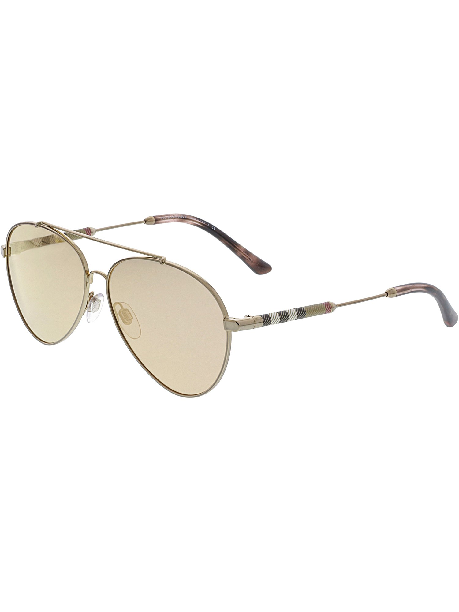 deab18c6cd3e Burberry - Burberry Women's Mirrored BE3092Q-12437J-57 Pink Aviator  Sunglasses - Walmart.com