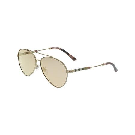 531dc4c2d549 Burberry - Burberry Women's Mirrored BE3092Q-12437J-57 Pink Aviator  Sunglasses - Walmart.com