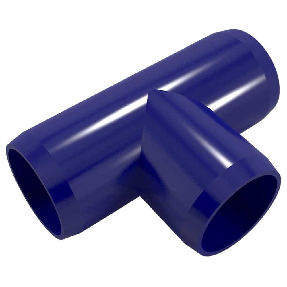 "Tee PVC Fitting, Furniture Grade, 1"" Size, White (Pack of 4)"