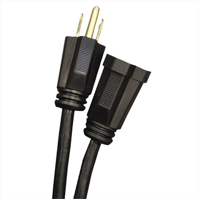 Voltec 02-00034 10 ft. Working Extension Cord & Convention Center Coder - Black, Case of 24