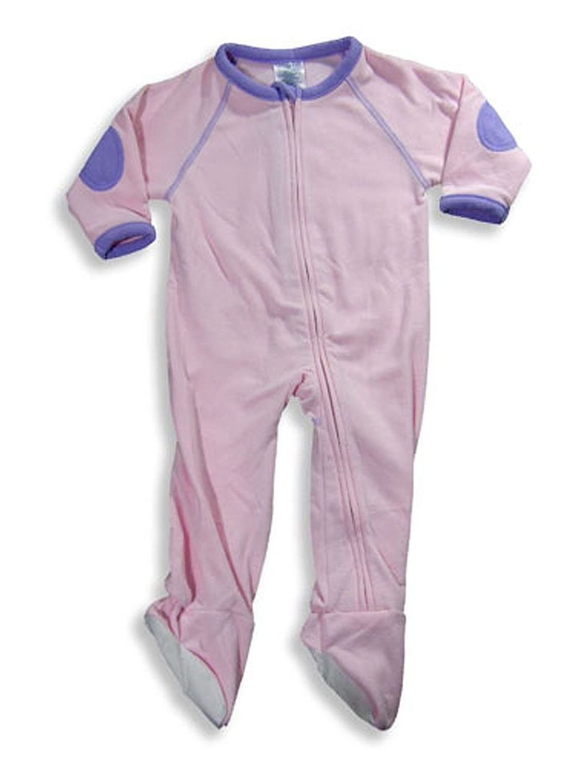 Famous Brand - Little Girls Footed Blanket Sleeper Pink / 4