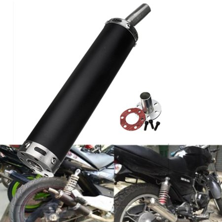Universal  2 Stroke Motorcycle Racing Exhaust Muffler Silencer Stainless Steel Pipe For Street Scooter US - image 4 de 4