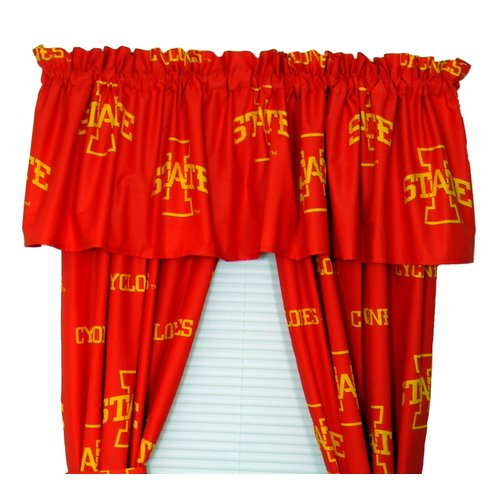 College Covers NCAA Iowa State Printed Sports Rod Pocket Curtain Panels (Set of 2)