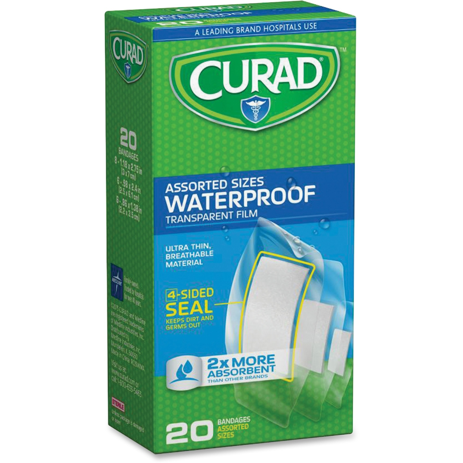Curad Clear Waterproof Adhesive Strips (cur5108)