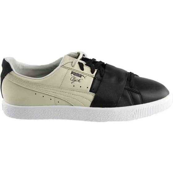huge selection of 9c47d a1ca0 Puma Men's Clyde Colorblock 1 Black / Birch Ankle-High Fashion Sneaker - 12M