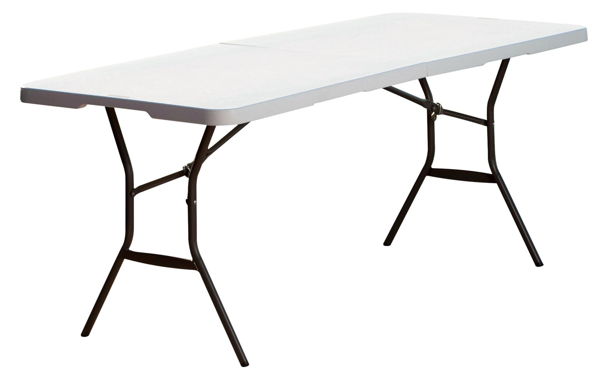 - Lifetime 6' Fold-In-Half Table, White Granite - Walmart.com