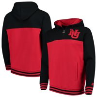 Nebraska Cornhuskers Starter Academic Quarter-Zip Pullover Hoodie - Scarlet/Black