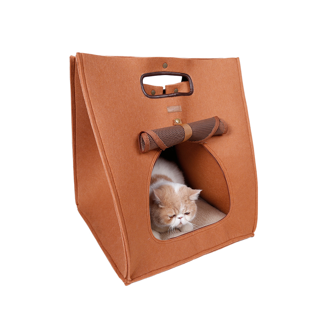 Unique Bargins Portable Travel Pet Carrier Bag Cat House Warm Puppy Dog Bed Brown DOGLEMI Authorized
