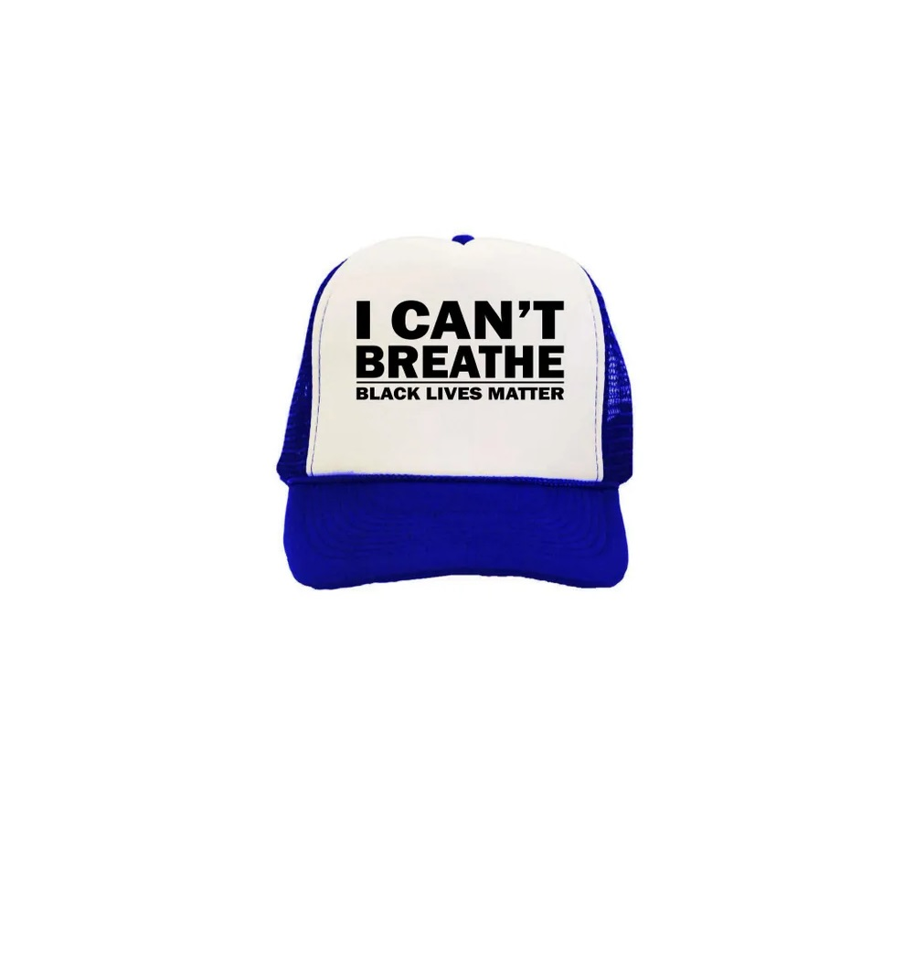 I Can T Breathe Black Lives Matter Trucker Hat For Men Women Unisex Walmart Com Walmart Com