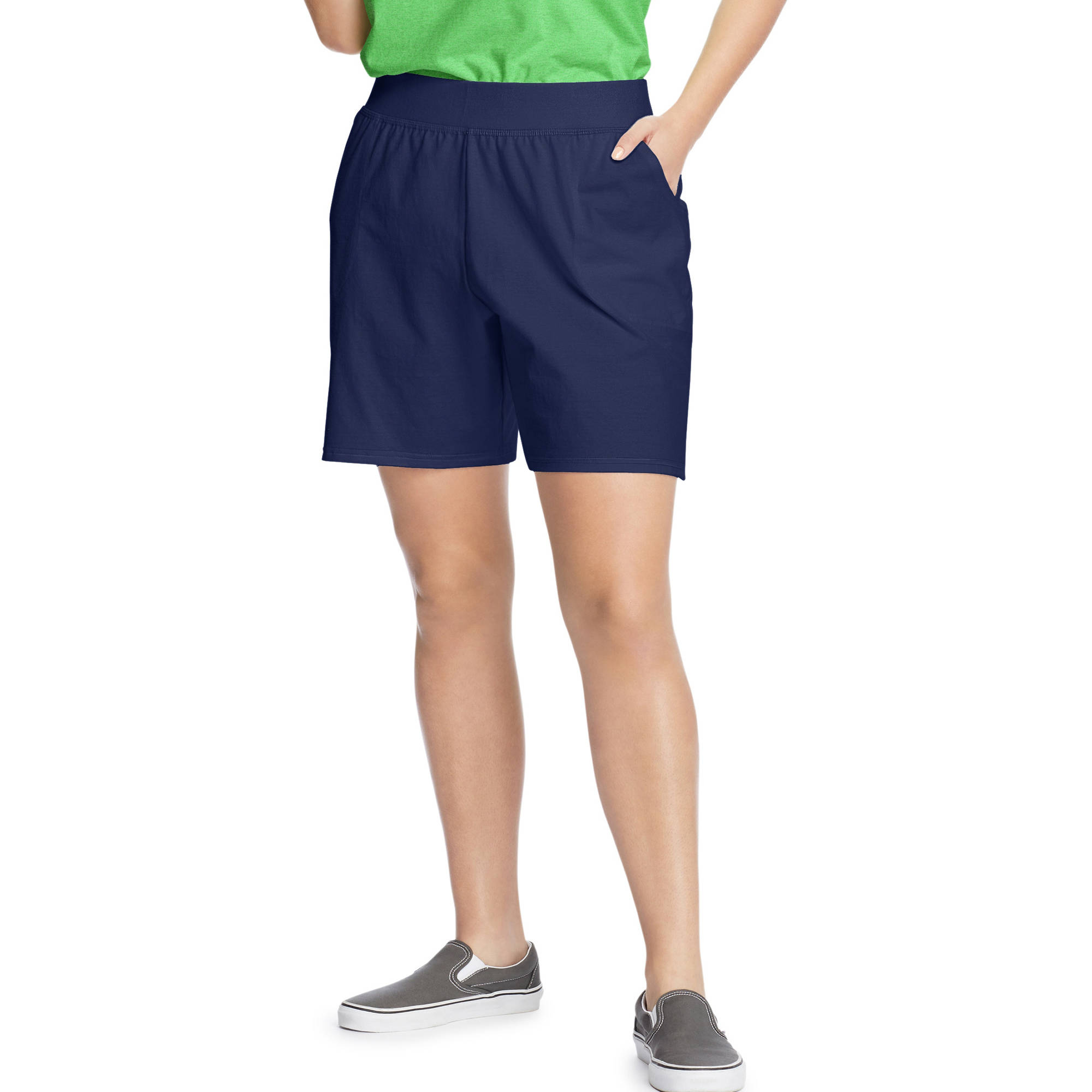 Just My Size Women's Plus Size Jersey Pocket Short, Up to size 5X